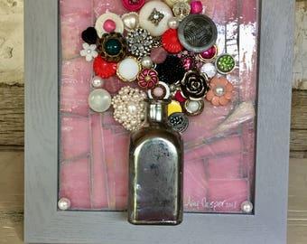 Mixed Media Bouquet in Vase 1