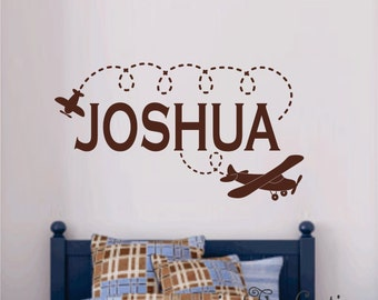 More Colors. Airplane Wall Decal Personalized ...