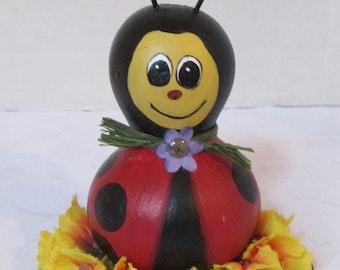 Little Miss Ladybug Gourd