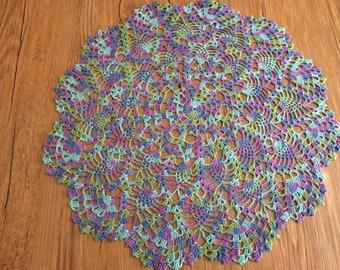 Hand crochet pineapple doilies