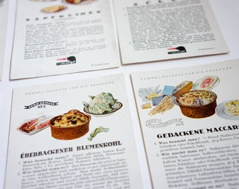 Vintage advertising recipes, 60s