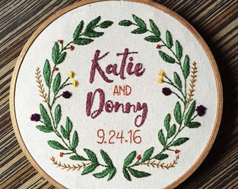 Willow Wedding Embroidery Hoop