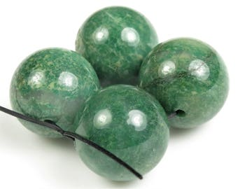 GREAT SALE - was 9.99 - Luscious Green African Jade Large Round Beads - 16mm - 4 beads - B8341