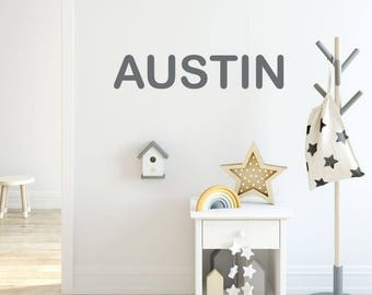 Boys Name Decal, Name Wall Decal, Boys Room Wall Decal, Little Boys Bedroom Decor, Personalized Name Decal