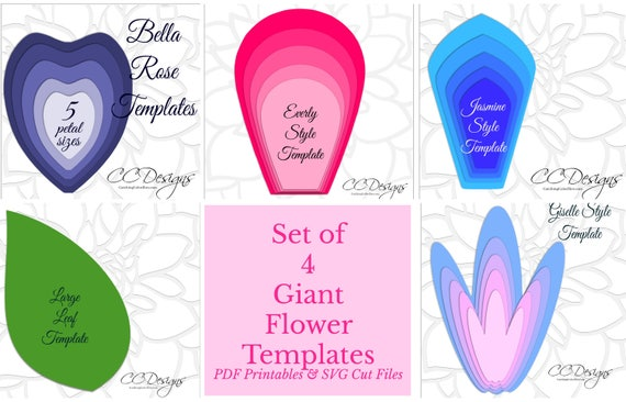 Easy large paper flower patterns printable giant flower mightylinksfo