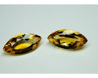 18x9mm AAA Quality Natural Golden Citrine Marquise 2 pieces Gemstone semi precious stones