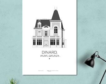 Displays Dinard / Villa de Dinard / printed on A3 210 grams / DINARD, my love.