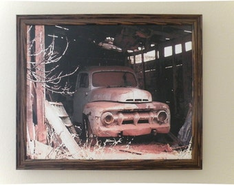 Old Truck Canvas, Framed Art ,Truck Art, Old truck Photograph, Old Truck