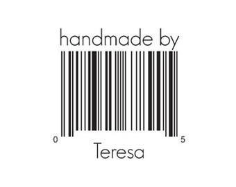 Barcode rubber stamp Custom bar code stamp