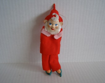 Vintage Elf Christmas Gnome Ornament Holiday Craft