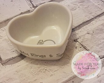My Rings & Sparkly Things Jewellery Dish (Can be personalised)