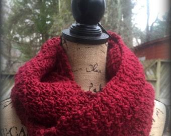 Infinity Scarf Crochet Pattern Winter Berries PDF 200