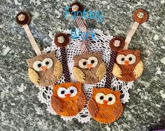 Bookmark Owl of Felt