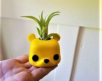 Winnie the Pooh planter, Funko pop inspired air plant holder, Pooh bear nursery decor