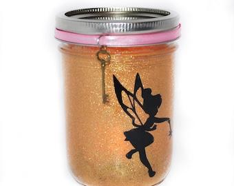Magic Fairy Jar Light, Fairy Night Light, Fairy House, Fairy Lantern, Fairy Mason Jar, Fairy Mason Jar, Gold Mason Jar Fairy