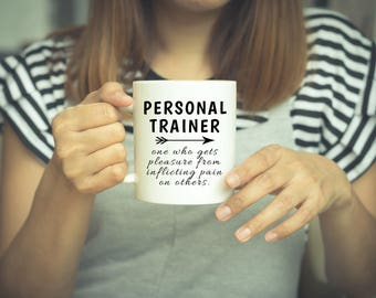 personal trainer trainer gifts weightlifting fitness gift trainer gift gift for trainer workout gift personal trainer mug gym mug