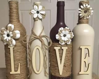I make custom wine bottles.  I can designs any color or style you would like.