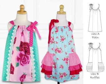 Pillowcase Dress Pattern pdf, Girls Dress Pattern PDF. Childrens Sewing Pattern, Girls Sewing Pattern, Dress Pattern, SUMMER DRESS