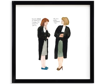 """Never Appear, Lawyer Limited Edition Archival Prints by Simon Schneiderman Framed 18"""" x 18"""""""