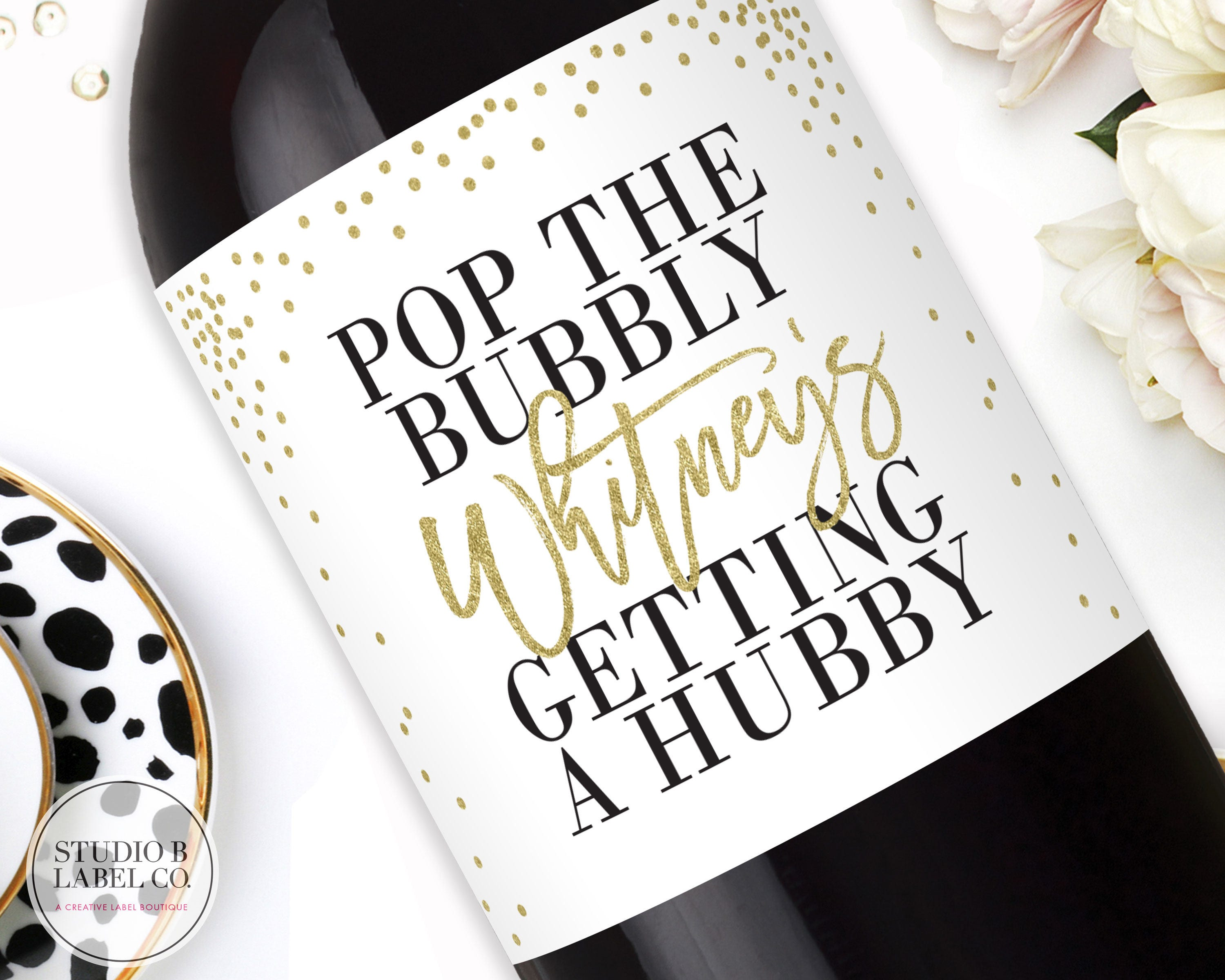 Pop The Bubbly She\'s Getting a Hubby Mini Champagne