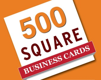 500 Square business card printing - straight corners - mini business cards
