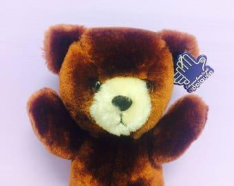 Vintage Teddy Bear, Applause Bear, 1980s Teddy Bears, Plush Bear, Stuffed Animals, 1980s Toys, 1986 Bear, Cute Vintage Toys, Brown Bear