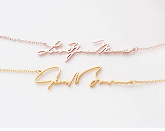 Personalized Handwriting Necklace / Gift for Her / Bridesmaid Gift - HN01