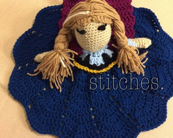Princess Lovey, Crochet Lovey, Princess Blanket, Security Blanket, Crochet Princess Blanket, Princess Doll