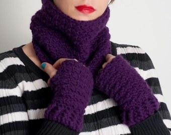 Crochet Pattern Leah Fingerless Gloves and Cowl