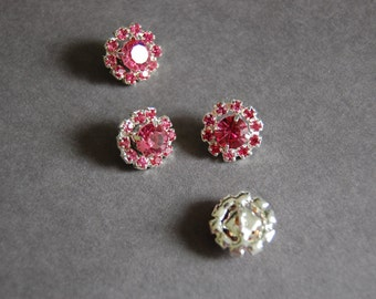 Pink Rhinestone Shank Buttons
