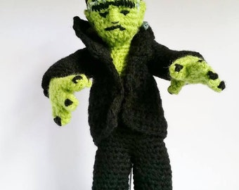 REDUCED AGAIN!!!! Amigurumi Angel, Devil or Frankenstein's monster incl. stand