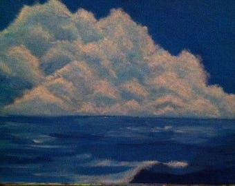 clouds on water  painting