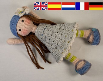 Crochet pattern for doll LILLY (Deutsch, English, French, Nederlands, Español)
