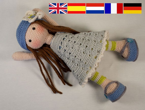 Crochet pattern for doll LILLY Deutsch English French