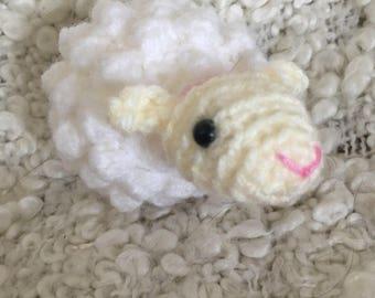 Woolly sheep key ring