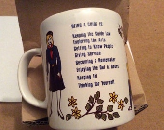 Vintage BROWNIE Being A Guide Motto Mug Retro 80's Collectable