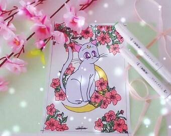 Sailor Monn Cat drawing (original)