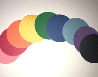 """200 Die Cut Circles Construction Paper Multi-Color 3"""""""