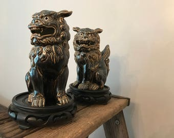 Foo Dogs Japan OMC ceramic statues
