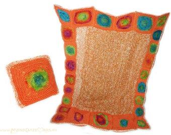 crochet blanket, Afghan INDIAN DREAM