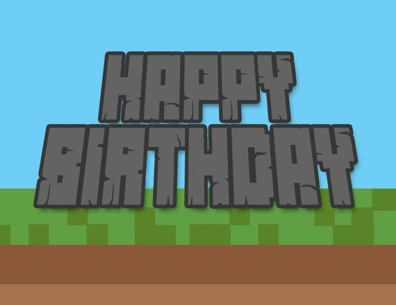 Happy birthday card boys minecraft inspired card happy birthday card boys minecraft inspired card printable instant download bday card print at homebuilding mining teen birthday card bookmarktalkfo Image collections