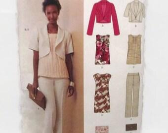 New Look 6080 Misses Dress Pants Jacket Top and Clutch UNCUT