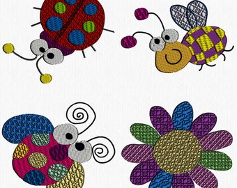 Cute Bugs Machine Embroidery Designs