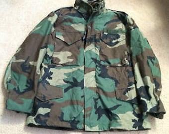 Vintage M65 Camo Jacket Heavy Field Jacket