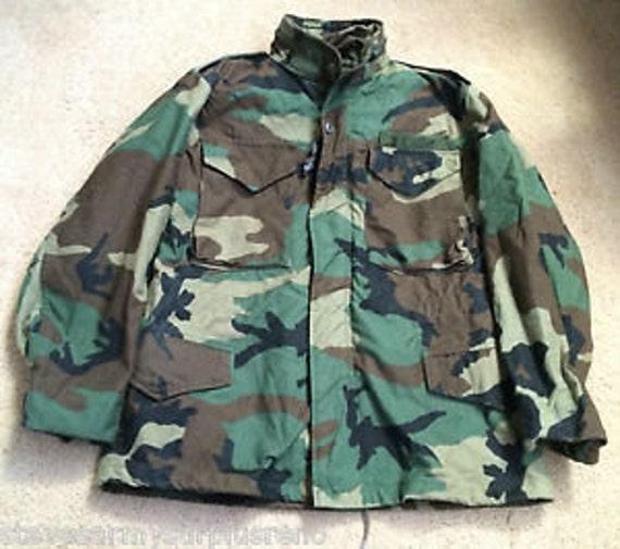 Vintage M65 Camo Jacket Heavy Field Jacket 9PmxXqsPa1