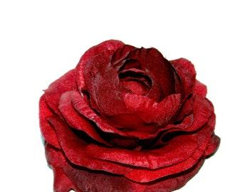 1 Red Ranunculus - Silk Flowers, Artificial Flower Heads - PRE-ORDER