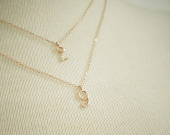Mommy pendant etsy number pendant necklace charms mommy necklace mothers necklace solid 14k graduation gift aloadofball Gallery