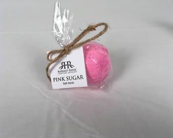 Pink Sugar Foaming Bath Bomb