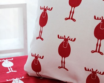 Oxford Cotton Fabric Reindeer in 4 Colors By The Yard