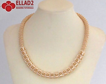 Tutorial Carlota Necklace - Beading Tutorial, Beading Pattern